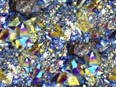 Titanium Crystals Seamless Background