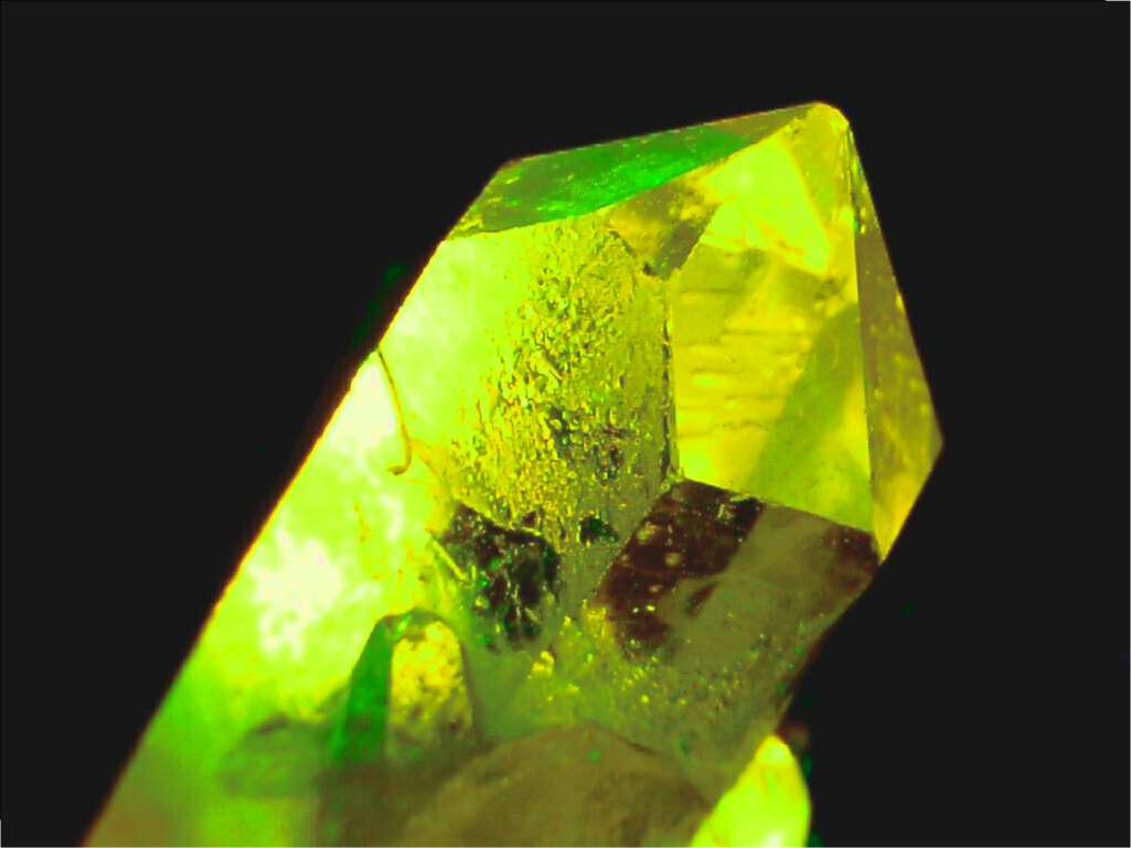 Very green fantasy crystal