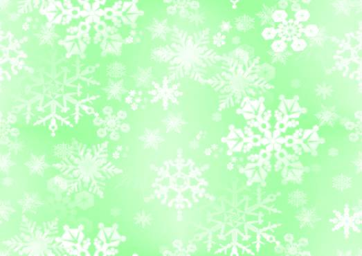 Snowflake Green Paper Seamless Background Fill