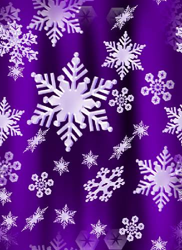 Snow Flake Seamless Background Fill Purple