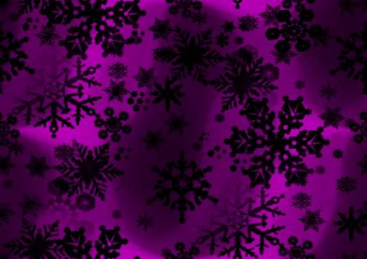 Black Snowflakes on Purple Repeating Seamless Background Tile Image Picture