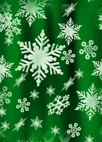 Snowflakes Green Seamless Background Tile Image Picture