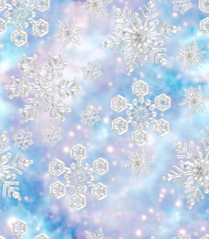 Snowflakes Fantasy Blue Light Background seamless tile