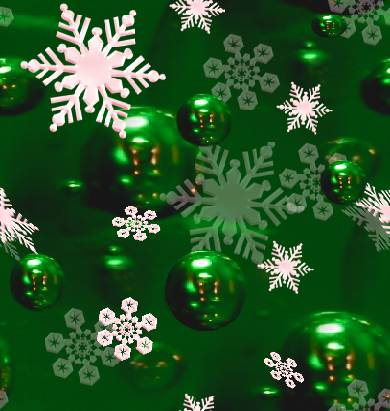 Snowflakes Christmas Green Seamless Background Tile Picture