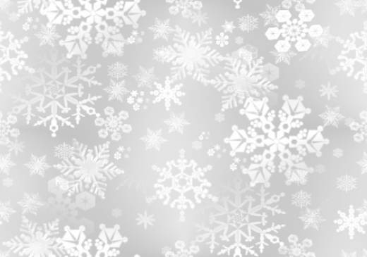 Snow Flakes White/Silver Paper Seamless Background Fill Repeating